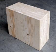 Massivholzmauer bauen