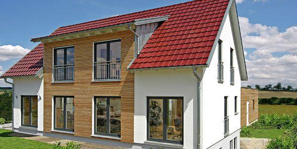 Einfamilienhaus neubau modern holz  Holzhaus bauen - energieeffizientes Holzfertighaus