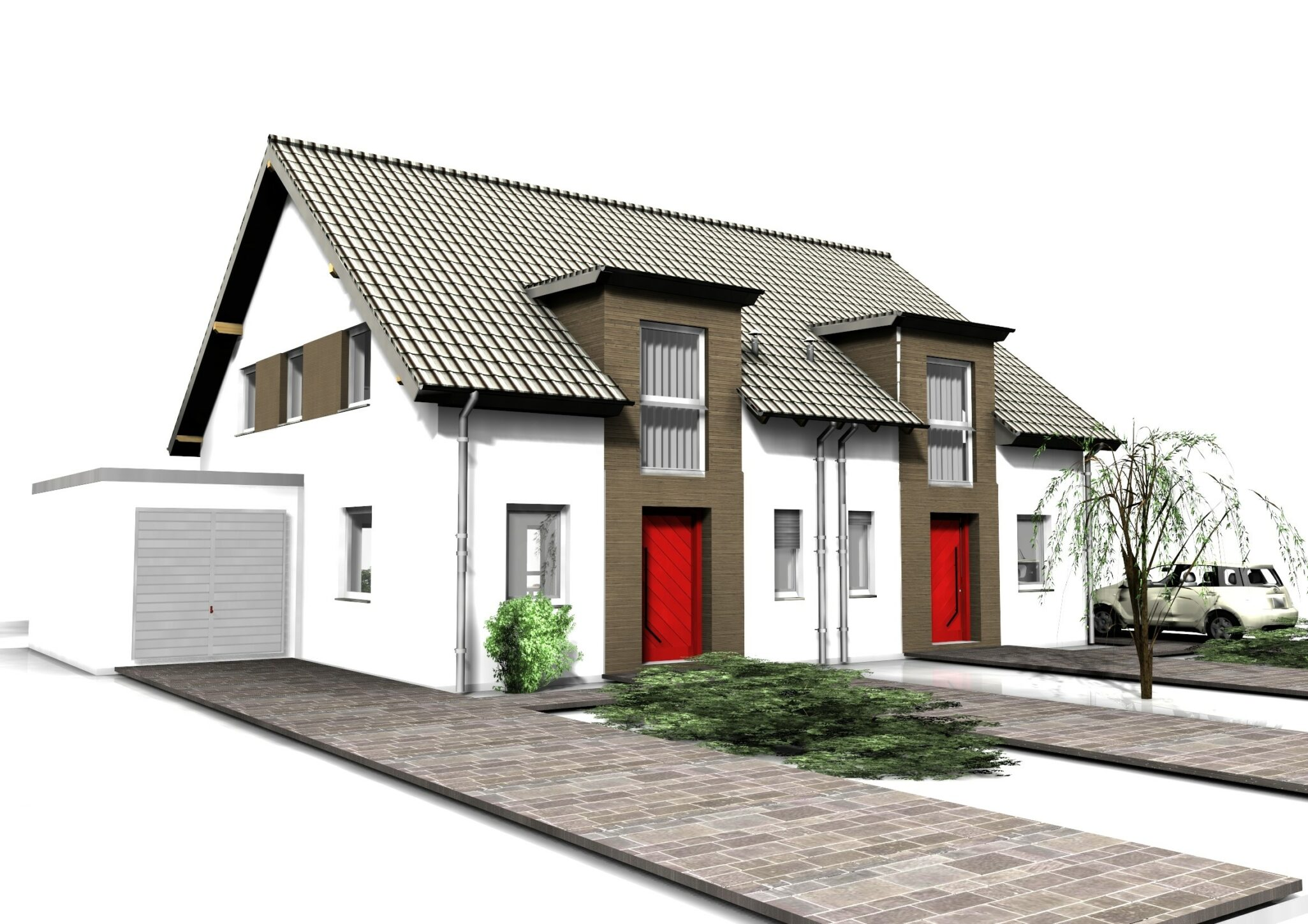 Einfamilienhaus Doppelhaus